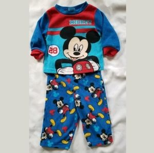 Baby Boy Disney Mickey Mouse Pajamas Set 12 Months